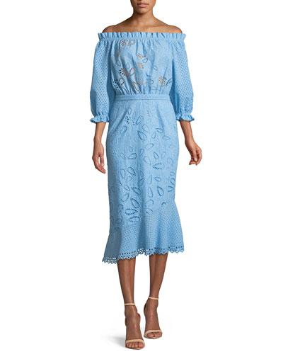 Grace Eyelet Cotton Dress