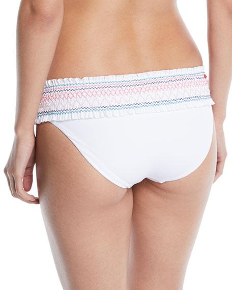 In Stitches Smocked Hipster Swim Bikini Bottoms