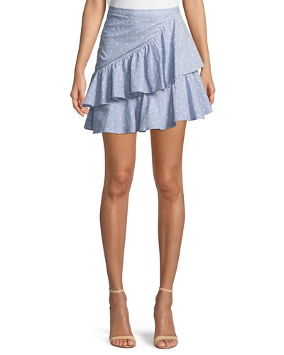 Mara High-Waist Ruffle Mini Skirt