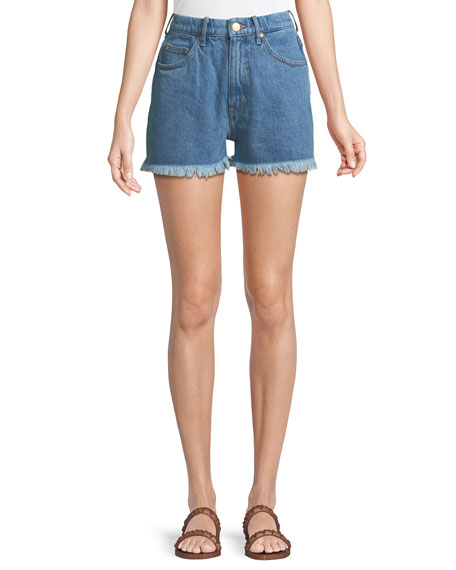 MiH Halsy High-Rise Cutoff Denim Shorts