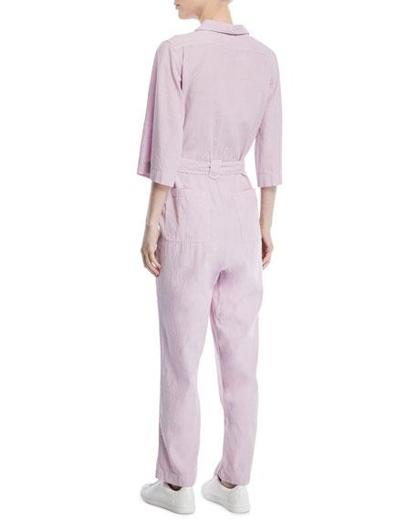 Montara Linen/Cotton Coverall Jumpsuit