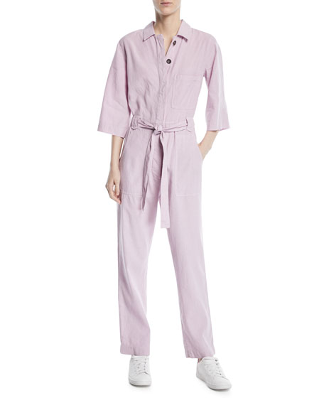 MiH Montara Linen/Cotton Coverall Jumpsuit