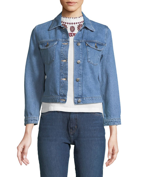 MiH Sunland Button-Down Denim Jacket