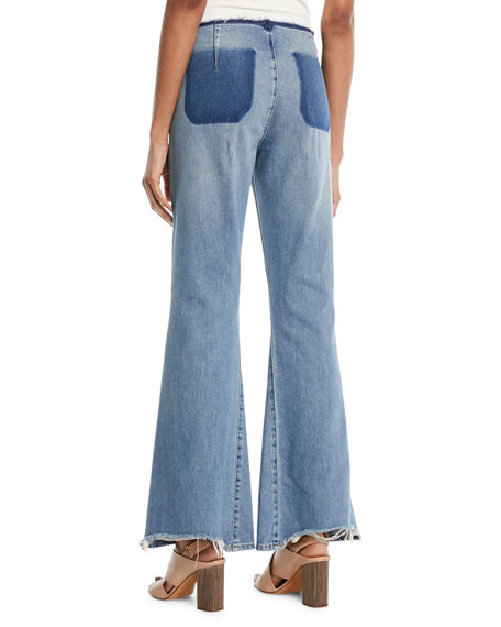 Marrakech Raw-Edge Flare Jeans