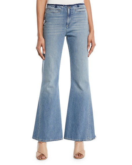 MiH Marrakech Raw-Edge Flare Jeans