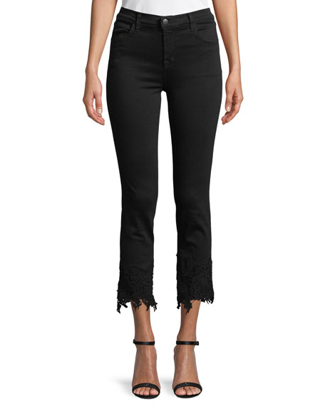 J Brand Ruby High-Rise Crop Cigarette Jeans with
