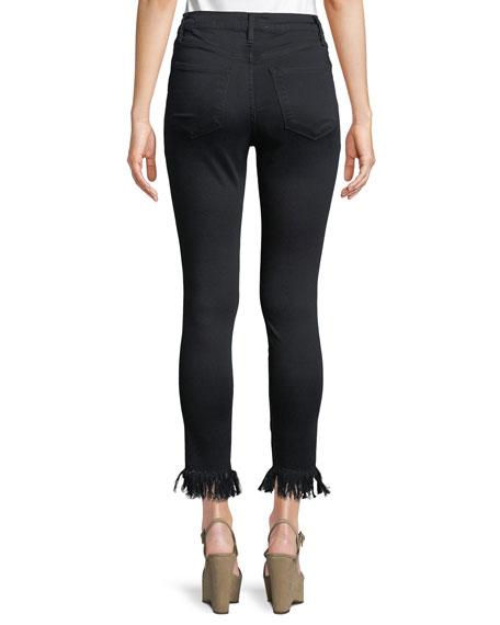 Ali High-Rise Skinny Jeans w/ Fray Hem