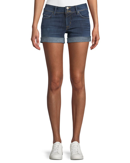 Hudson Croxley Mid-Rise Denim Shorts with Flap Pocket