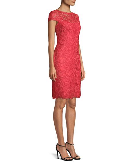 Lace Sheath Illusion Dress
