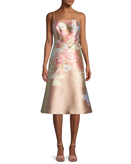 Rickie Freeman for Teri Jon Metallic Floral Sleeveless