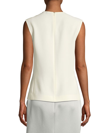 Cecily Fluid Twill Sleeveless Top
