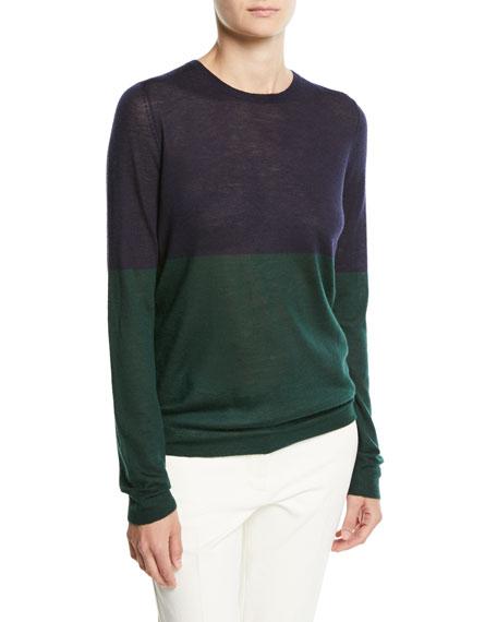 Joseph Cashmere Colorblock Crewneck Sweater