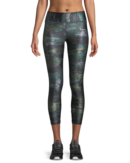 Terez Heathered Camo Tall Band Capri Leggings