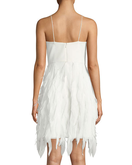 Sleeveless Feather Textured Dress