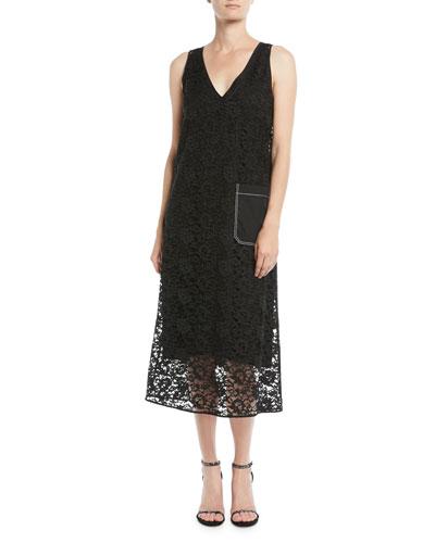 Margo Palermo Lace V-Neck Dress