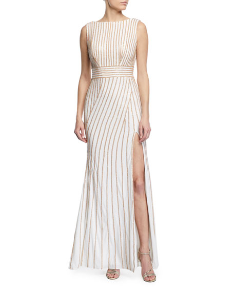 Jovani Sleeveless Beaded Jersey Dress