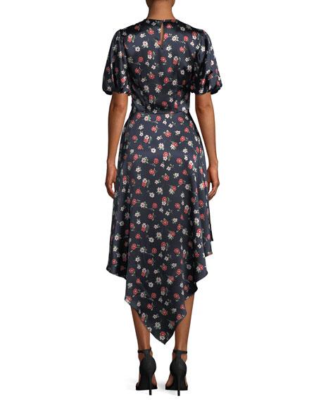 Cynthia Floral-Print Silk-Stretch Dress