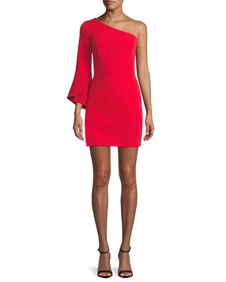 Milly Sandrine One-Sleeve Sheath Dress