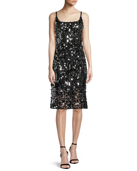Milly Jessie Sequined Sleeveless Dress