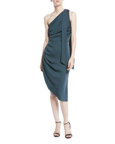 f330b31595e6 Milly Coleen Stretch-Silk One-Shoulder Dress