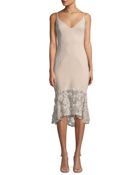 Milly Sleeveless Tea Length Dress W/ Lace Bottom by Maria Bianca Nero