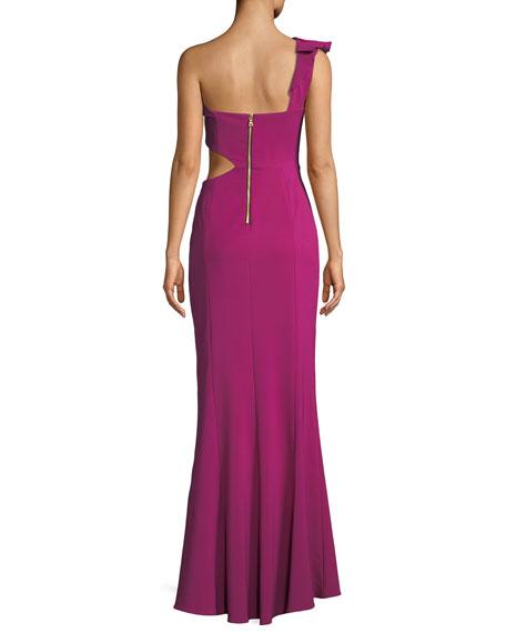 Emma Side-Cutout Ruffle Dress