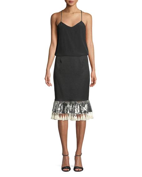 Carsamba Sequin Tassel Skirt