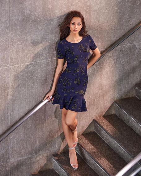 Twilight Floral Mermaid Dress