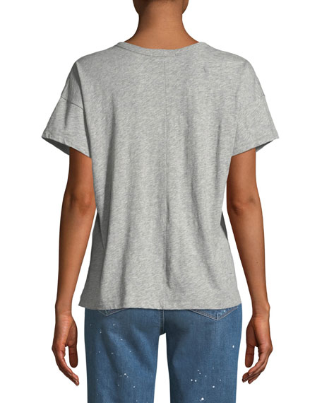 Star Vintage Crewneck Short-Sleeve Cotton T-Shirt