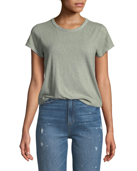 Rag & Bone Crewneck Short-Sleeve Cotton T-Shirt