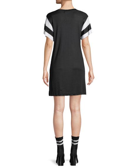 Penny Crewneck Short-Sleeve Jersey Dress