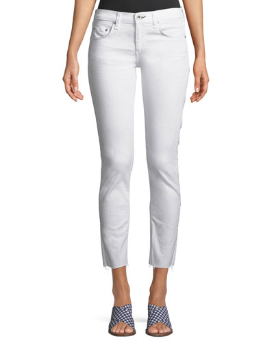 Dre Mid-Rise Cropped Skinny-Leg Stretch-Twill Jeans