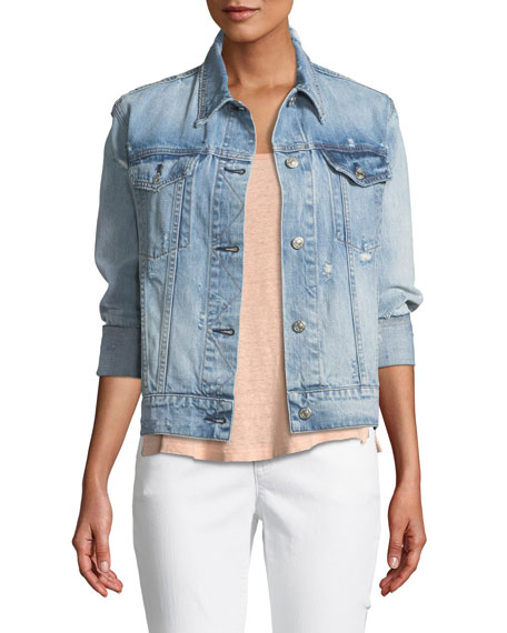 Rag & Bone Oversized Distressed Denim Jacket