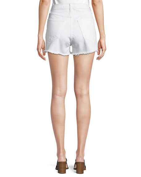 Justine High-Rise Denim Shorts