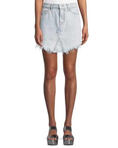 Denim Skirt w/ Scallop Hem