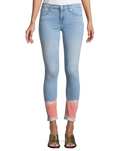 The Skinny Crop Jeans w/ Tie-Dye