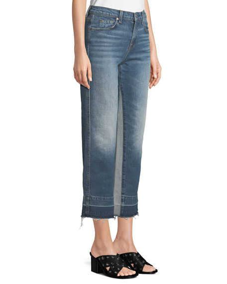 Kiki High-Rise Straight-Leg Jeans with Insert Panel & Released Hem