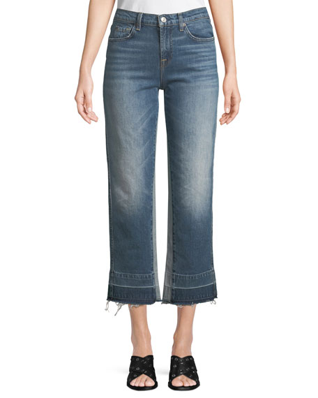 7 for all mankind Kiki High-Rise Straight-Leg Jeans