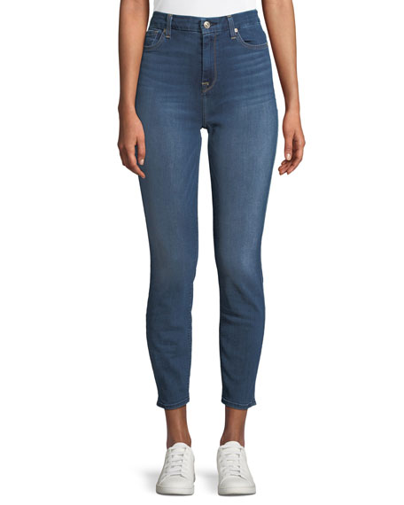 7 For All Mankind Aubrey High-Waist Skinny-Leg Ankle