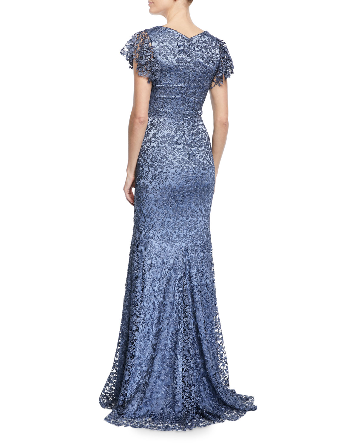 Theia Guipure Lace Mermaid Gown   Neiman Marcus