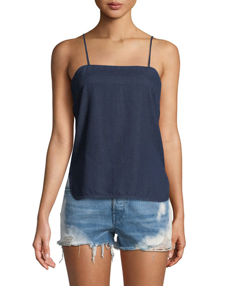 3x1 Square-Neck Slipover Denim Tank