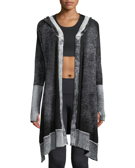 Blanc Noir Huntress Hooded Open-Front Cardigan