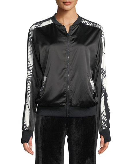 Reversible Printed Silk Bomber Jacket