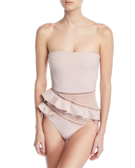 Bayou Strapless Frill One-Piece Swimsuit
