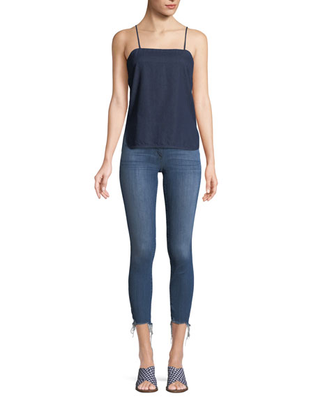 W3 High-Rise Skinny Crop Jeans