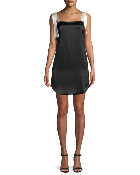 Ines Bow-Tie Mini Tank Cocktail Dress