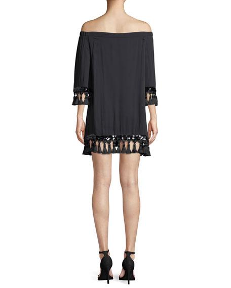 Cha Cha Off-the-Shoulder Tassel Dress