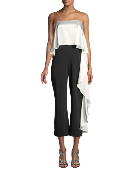 Jacqueline Stretch Cropped Ruffle Jumpsuit