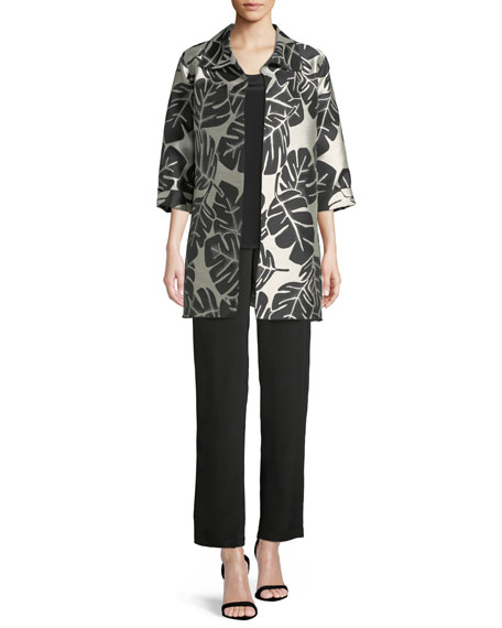 Palm Paradise Jacquard Party Jacket, Plus Size