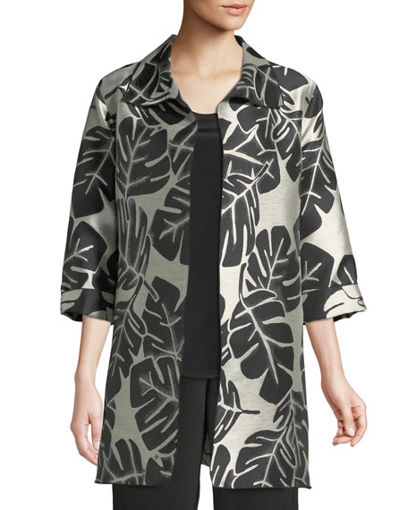 Caroline Rose Palm Paradise Jacquard Party Jacket and